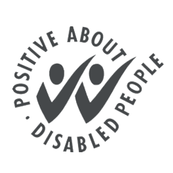 Positive About Disabled People Grey